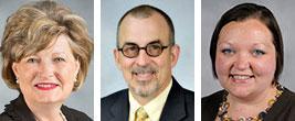 L-r: Sherilyn Emberton, Luke Fetters, and Shoshannah McKinney.