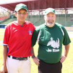 Jeff Dice and a Nicaragua player.