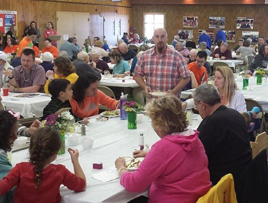 ...and during the spaghetti dinner.