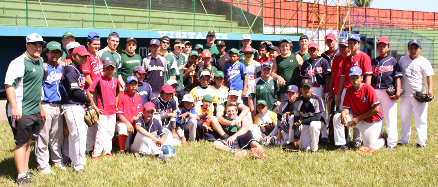 The Huntington University ministry team and their Nicaraguan friends.