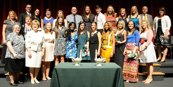 2014 graduates from the HU nursing department, along with faculty and staff. (click to enlarge)