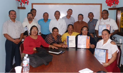 Participants with their certificates for completing the program.