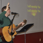 Mark Young, worship and music pastor at Mount Pleasant UB church (Chambersburg, Pa.), led the singing.