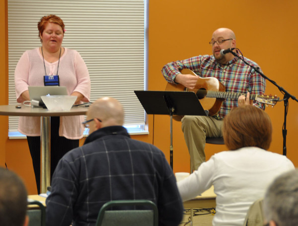 Brent and Loretta Liechty, from Pathway UB in Jackson, Mich., are leading music for the Pastors Summit.