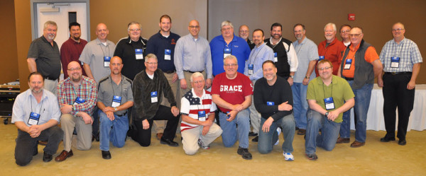 All of the ministers together. Front (l-r): Mike Sturgill, Brent Liechty, Rocky Spear, Jerry Drummond, Don Ross, Eldon Grubb, Jim Pryor, Andy Stahl. Back (l-r): Phil Whipple, Tim Sherman, Greg Voight, Mark Ralph, Ricky Hull, Todd Fetters, Todd Greenman, Devon Strine, Ted Doolittle, Dan Kopp, Joe Leighton, Ron Watterly, Nick Woodall, Ron Evans, and Dan VanArsdalen.