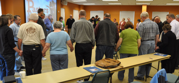 The Pastors Summit ended with a prayer time.
