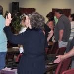 Worshipful singing was a key element of the event.