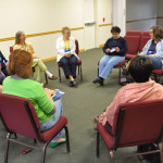 The pastors spouses in their Tuesday  morning sessions.