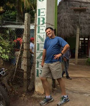 Team member David Gregory, associate dean of the University of Mississippi School of pharmacy, at Rancho Ebenezer, a large facility located in the mountain outside of Masaya. This is where the team stayed.