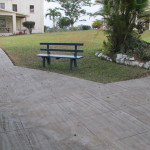 The finished sidewalk.