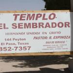 The El Sembrador church sign.