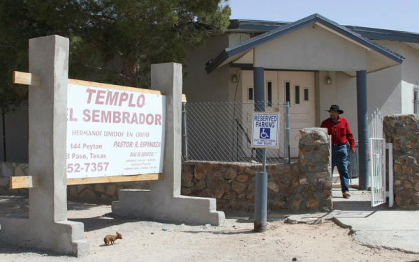 The El Sembrador church in El Paso.