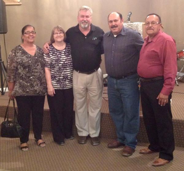 L-r: Maria Espinoza, Sandy and Phil Whipple, Rafael Coss, and Robert Espinoza.