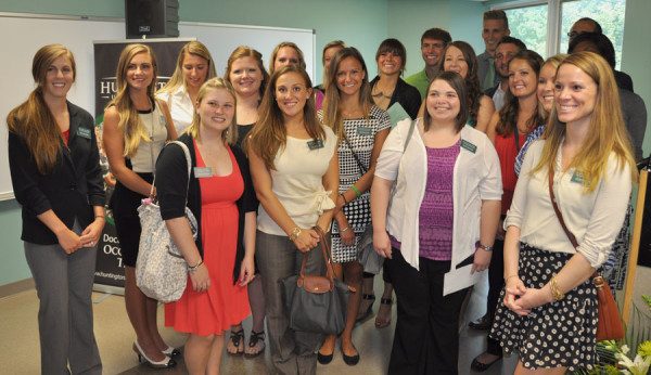 Huntington University students in the inaugural Occupational Therapy class.