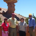 The visitors got a tour of Santa Fe on Saturday. L-r: Irma Lopez, Phil and Sandy Whipple, Denis Casco.
