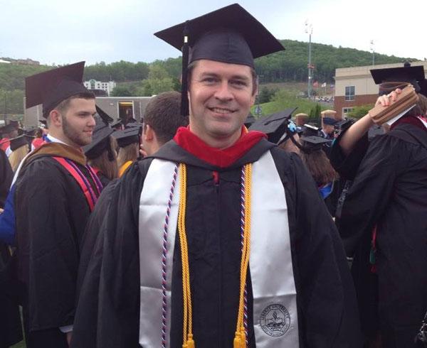 Mark Young on graduation day at Liberty University.