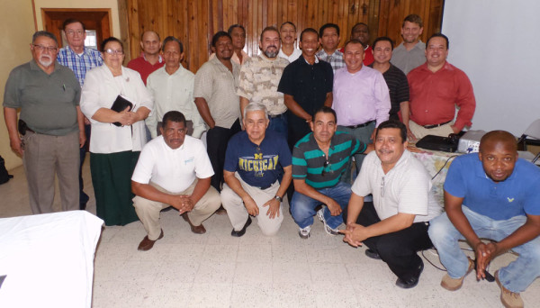 Superintendent Juanita Chavez (third from left) with Honduran leaders during the three days of prayer and fasting.
