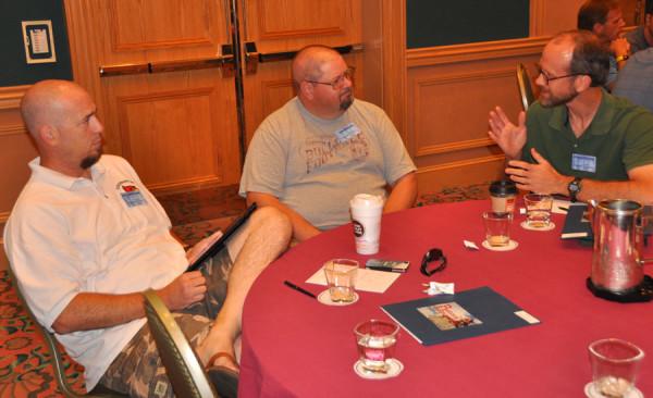 L-r: Marc Stephenson (Chambersburg, Pa.), Jim Bolich (Shippensburg, Pa.), and Milt Herrold (Greencastle, Pa.).