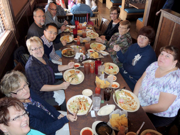 The National Office staff took Mabel out to a local Mexican restaurant as a farewell meal.