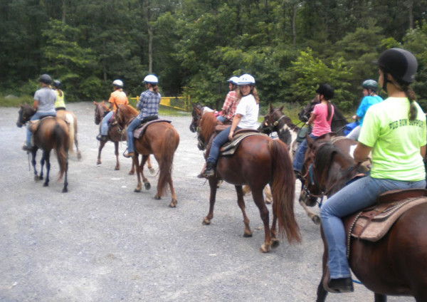 The equestrian program at Rhodes Grove Camp.