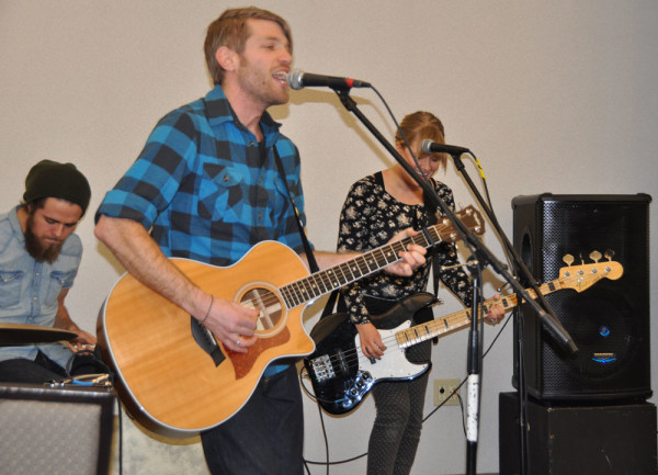 Attaboy sang and led in worship on Monday night.