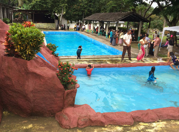 At the Honduras Conference waterpark.