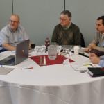 L-r: Cluster leaders Darwin Dunten (Findlay, Ohio), Dan VanArsdalen (Alvordton, Ohio), Lee Rhodes (Breckenridge, Mich.), Craig Burkholder (Hudson, Ind.), Jerry Drummond (Ashley, Mich.).