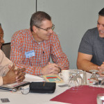 L-r: Cluster leaders William Flamer (Philadelphia, Pa.), Troy Green (Monroe, Ind.), and Tim Hallman (Fort Wayne, Ind.).
