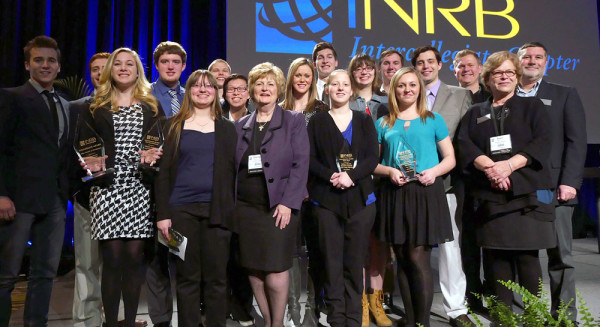 HU students at the iNRB convention. Dr. Sherilyn Emberton, president of Huntington University, is front-center.