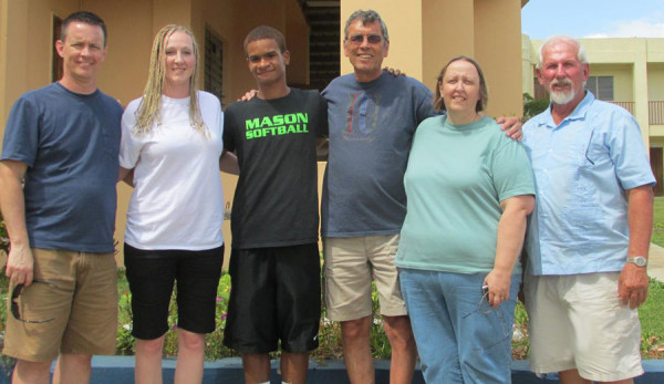 Rev. Randy and Chrystal Carpenter (left) and other workers.