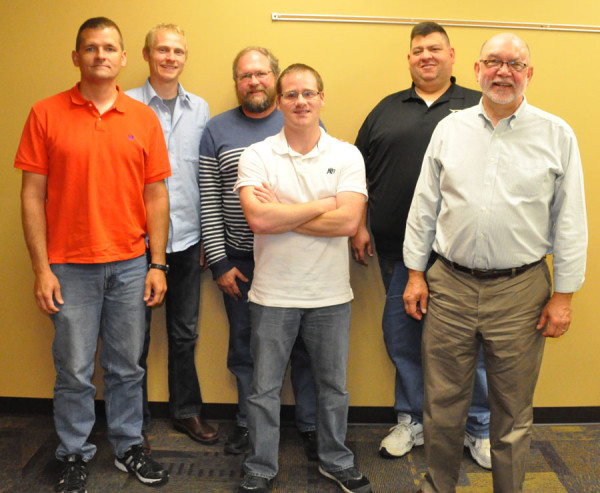 L-r: Jim Olinger, Elliott Ripley, Paul Burrus, Michael Seiel, Matt Coppess, Bob Bruce.