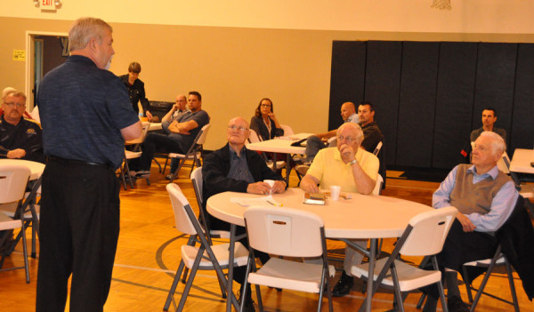 Bishop Phil Whipple presenting the proposals in Willshire, Ohio.
