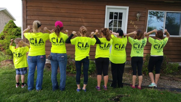 Participants with their CIA shirts