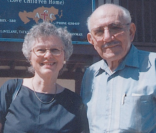 Emmett and Shirley Cox in Myanmar.