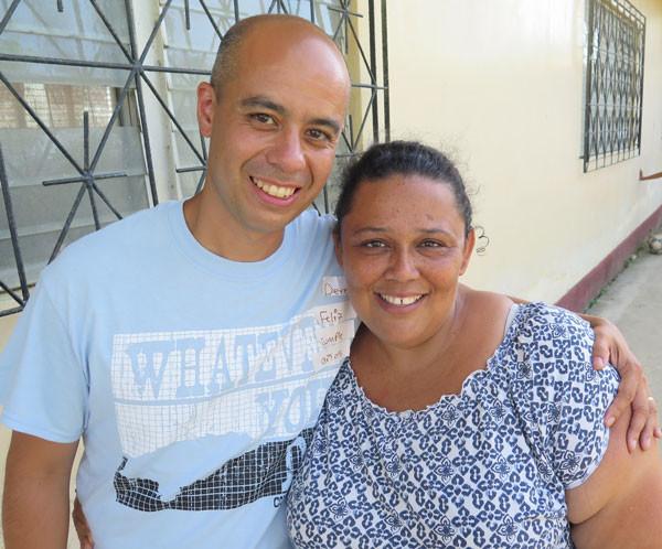 Derek Thrush with Pastor Janiria of Iglesia Luz.