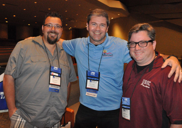 L-r: John Plumley (Fowlerville, Mich.), Mark Young (Chambersburg, Pa.), and Josh McKeown (Holly Hill, Fla.).