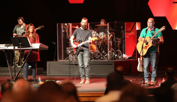 Mike Whipple and the worship team from Colwood UB church (Caro, Mich.) opened the conference during the Wednesday night service.