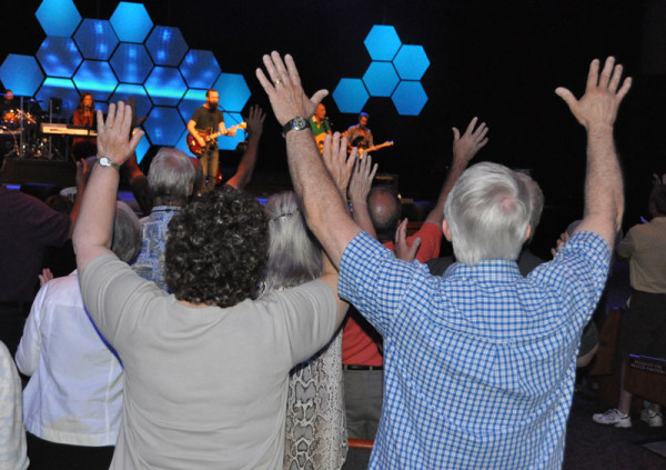 A great worship time during the opening service.