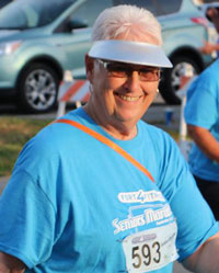 Rozanne Hallman in the seniors marathon.