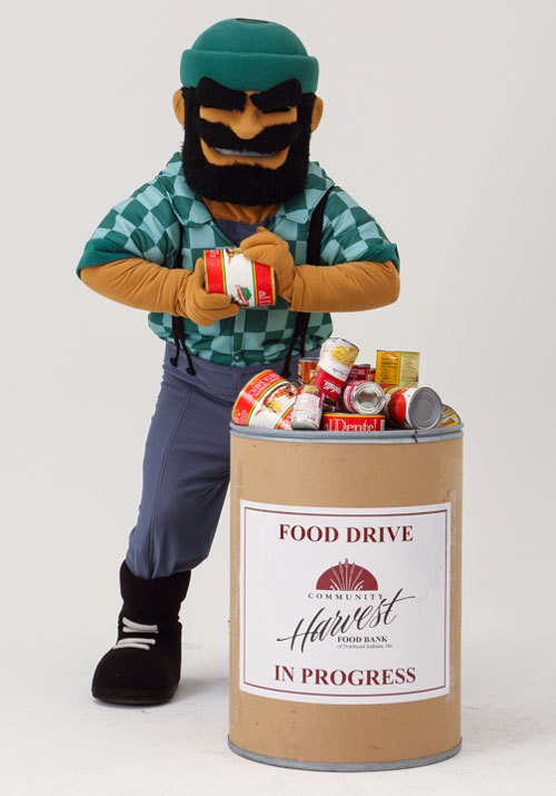 HU mascot Norm the Forester.