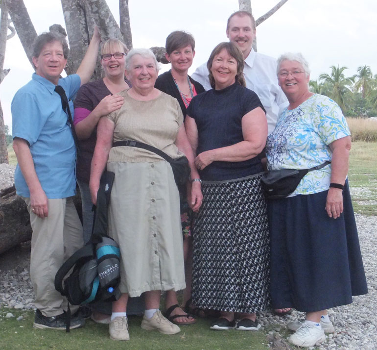 UBCentral    Page    The Canadian team standing by the same tree outside the Chevalier church  the same
