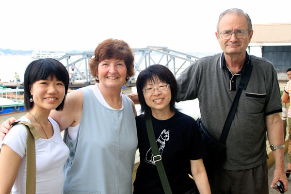 Donna and Jason Hollopeter traveling for Global Ministries in Southeast Asia.