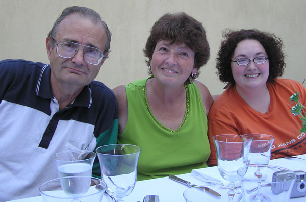 Jason, Donna, and Jessica Hollopeter on one of the Poland short-term trips.