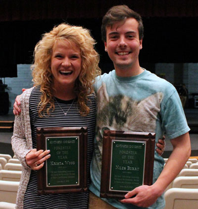 Krista Wood and Niles Berry, Foresters of the Year.