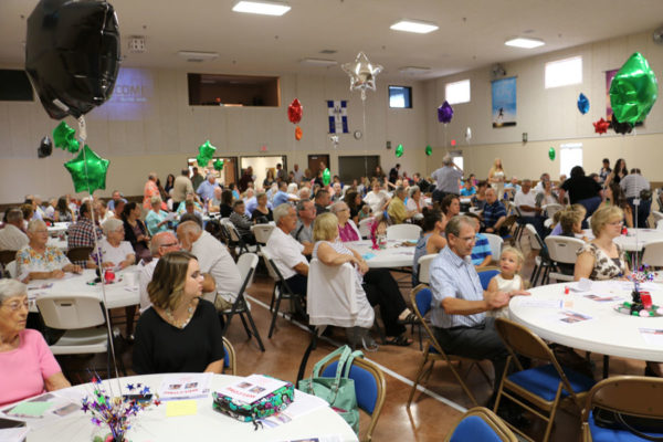 The packed Family Life Center on July 24, 2016.