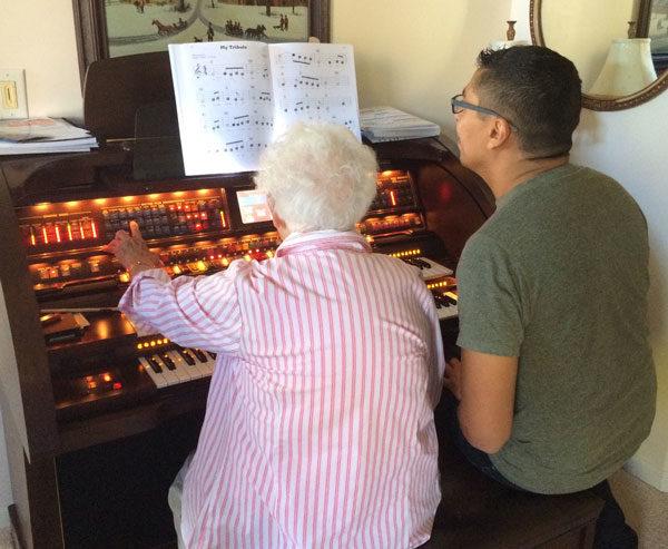 At Rosanna's organ.