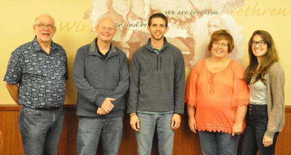 L-r: Bob Bruce, Jeff Lawson, Brandon Groff, Christine Augustat, and Holly Lutton.