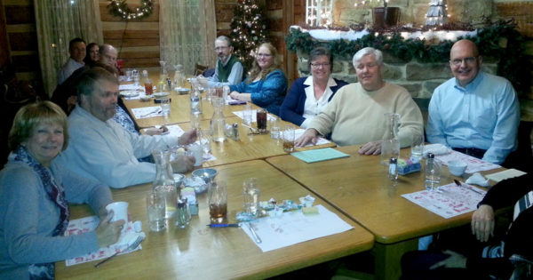 Pastors and spouses from the Cumberland cluster at their Christmas dinner.