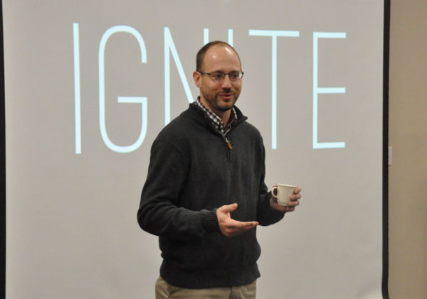 David Kline, associate director of Global Ministries, told about upcoming regional Ignite! conferences sponsored by Global Ministries.