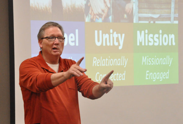 Mike Dittman, Director of National Ministries, led the training time on Tuesday morning.